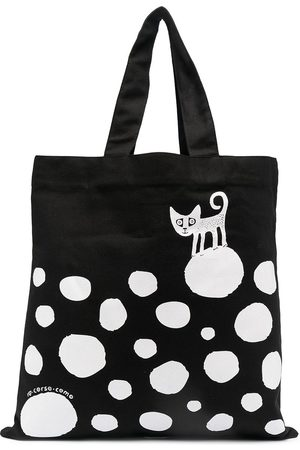 10 CORSO COMO Cat polka-dot print tote bag