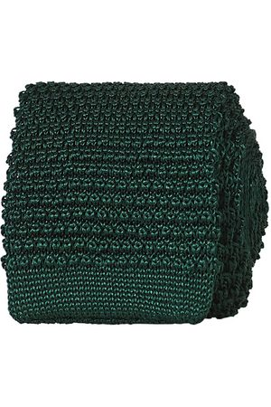Amanda Christensen Knitted Silk Tie 6 cm Green