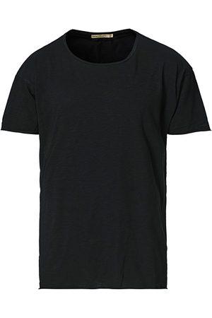 Nudie Jeans Miehet T-paidat - Roger Slub Crew Neck Tee Black
