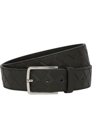 Bottega Veneta Miehet Vyöt - 3.5cm New Intreccio Buckle Leather Belt