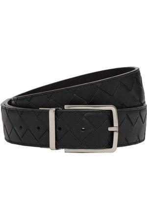 Bottega Veneta 3.5cm Intreccio Reversible Leather Belt