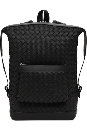 Bottega Veneta Intreccio Hydrology Leather Backpack