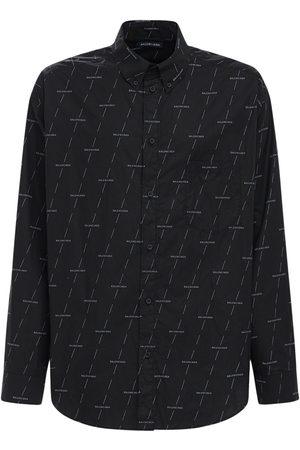 Balenciaga Miehet Paidat - Diagonal License Cotton Poplin Shirt