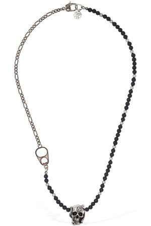 Alexander McQueen Beads & Skull Short Necklace