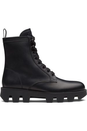Prada Calf leather laced booties