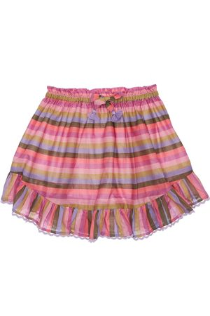 ZIMMERMANN Stripes Print Cotton Muslin Skirt