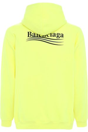 Balenciaga Political Logo Cotton Sweatshirt Hoodie