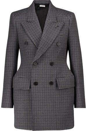 Balenciaga Naiset Bleiserit - Hourglass houndstooth virgin wool blazer