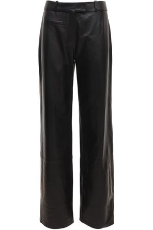 Zeynep Arcay Low Waist Straight Leather Pants