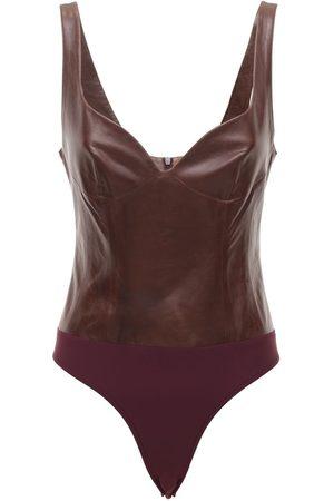 Zeynep Arcay Heart Leather Bodysuit