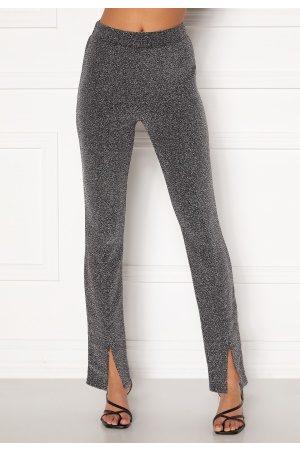 BUBBLEROOM Bonita sparkling slit leggings Black / Silver XL