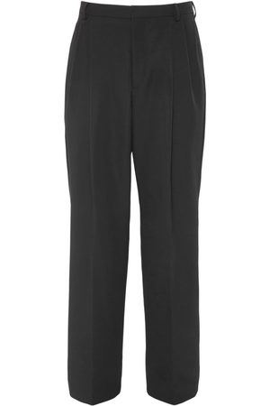 VALENTINO Logo Embroidery Cotton Blend Pants