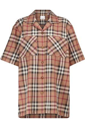 Burberry Checked cotton twill shirt
