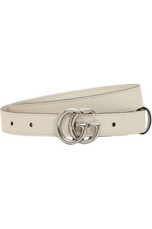 Gucci Naiset Vyöt - 2cm Gg Marmont Leather Belt