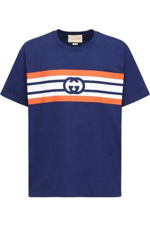 Gucci Miehet T-paidat - Gg Print Cotton T-shirt