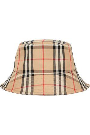 Burberry Check Cotton Blend Bucket Hat
