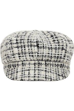 Dolce & Gabbana Wool Tweed Hat W/ Logo Detail