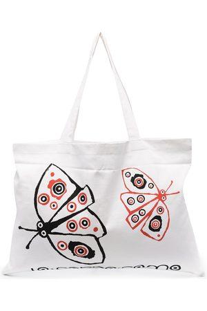 10 CORSO COMO Naiset Ostoskassit - Butterfly-print tote bag