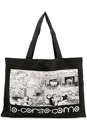 10 CORSO COMO Naiset Ostoskassit - Graphic-print tote bag