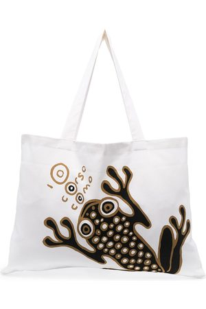 10 CORSO COMO Naiset Ostoskassit - Frog logo print tote