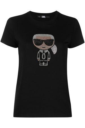 Karl Lagerfeld Naiset T-paidat - Crystal-embellished T-shirt