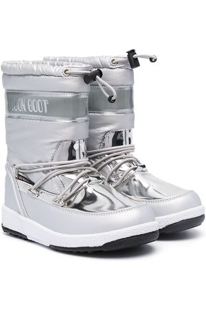 Moon Boot Lumisaappaat - Metallic snow lace-up boots