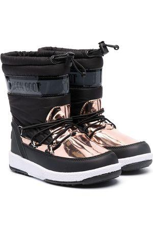 Moon Boot Lumisaappaat - Metallic panel snow boots