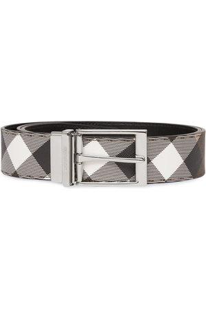 Burberry Miehet Vyöt - Check-print leather belt