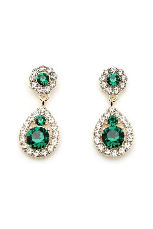 LILY AND ROSE Petite Sofia Earrings Emerald One size