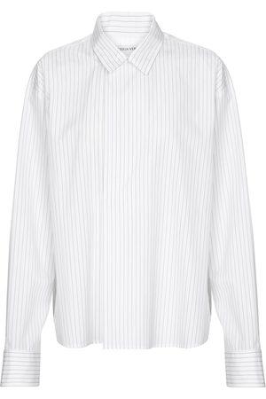 Bottega Veneta Pinstripe cotton poplin shirt