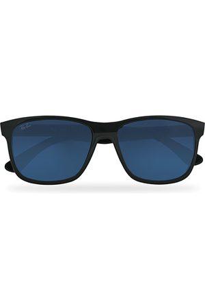 Ray-Ban RB4181 Sunglasses Shiny Black/Blue