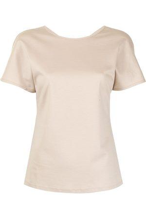 GOODIOUS Naiset T-paidat - V-back T-shirt