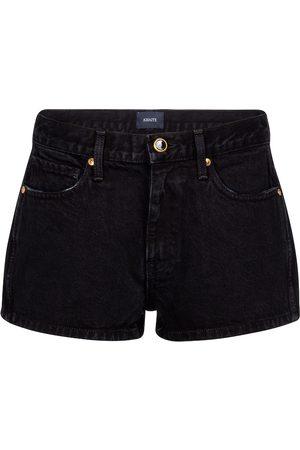 Khaite Charlotte high-rise denim shorts