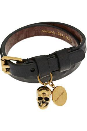 Alexander McQueen Miehet Rannekorut - Double Wrap Studded Leather Bracelet