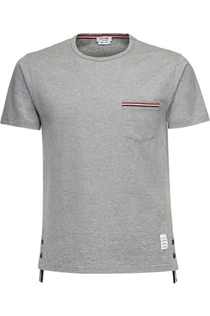Thom Browne Miehet T-paidat - Striped Pocket Cotton Jersey T-shirt