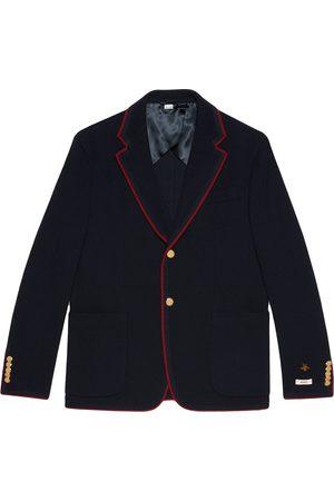 Gucci Contrast trim blazer jacket