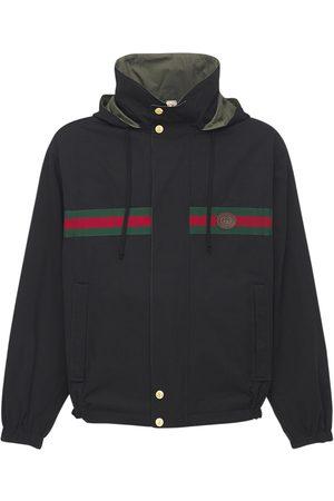 Gucci Miehet Päällystakit - Logo Reversible Cotton & Nylon Jacket