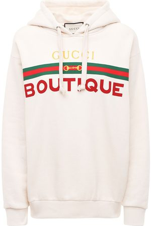 Gucci Naiset Collegepaidat - Boutique Print Cotton Jersey Hoodie