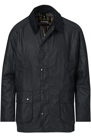 Barbour Miehet Päällystakit - Ashby Wax Jacket Navy