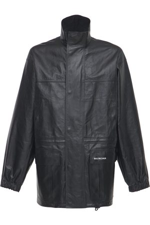 Balenciaga Miehet Parkatakit - Logo Light Leather Parka