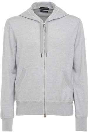Tom Ford Cotton Blend Knit Zip-up Hoodie