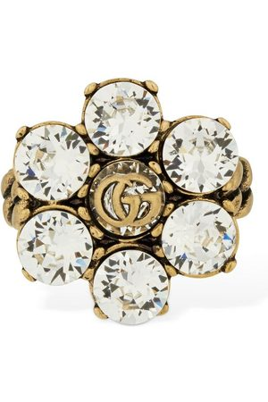 Gucci Gg Marmont Thick Ring W/ Crystal