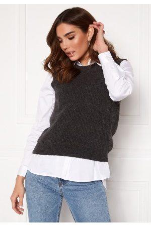 Vero Moda Olina O-Neck Vest Dark Grey Melange XL