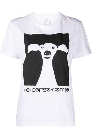 10 CORSO COMO Naiset T-paidat - Dog-print short-sleeved t-shirt