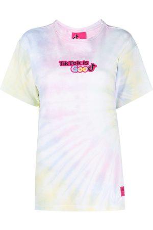 Ireneisgood Tie dye slogan-print t-shirt