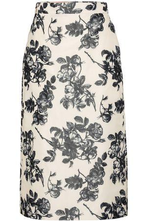 BROCK COLLECTION Stella floral cotton midi skirt