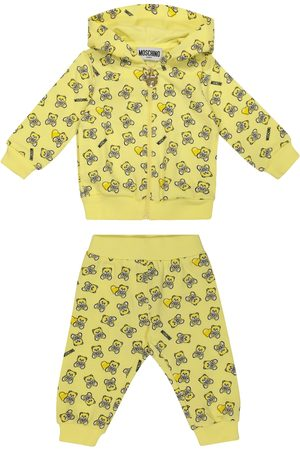Moschino Baby printed stretch-cotton hoodie and pants
