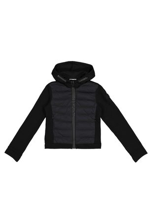 Moncler Quilted down and cotton jacket