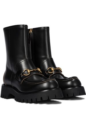 Gucci Horsebit leather ankle boots