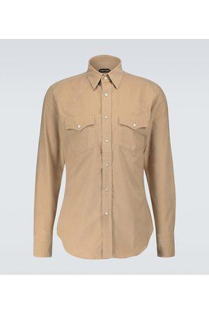 Tom Ford Western corduroy shirt